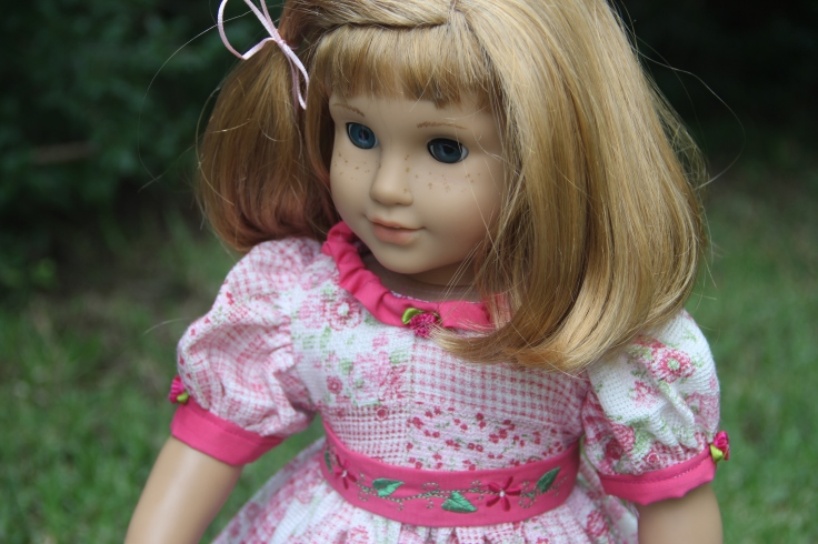 "A summer dress for Nellie and american girl or any 18"" doll"