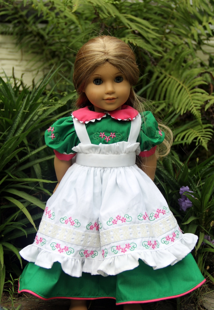 "Embroidered summer dress for a American girl or 18"" doll"