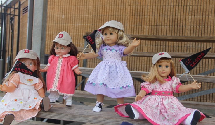 "The Dolls go to a baseball game- 18"" in. doll adventures by Stitching with Elli"
