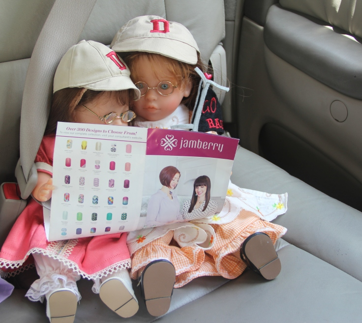 The Dolls think about joining Jamberry- doll adventures with stitching with Elli