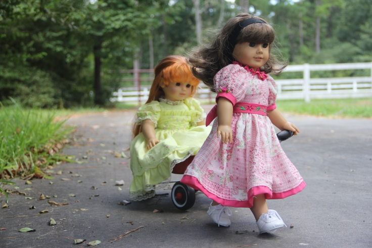 "Summer fun with the dolls- a 18"" doll adventure bu stitching with Elli"