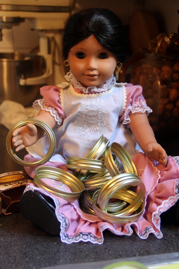"Josefina helps with canning!- a 18"" doll adventure by stitching with Elli"