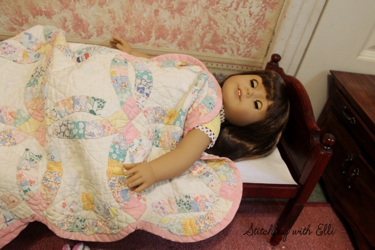 "Bridget is still sleeping- a 18"" doll adventure by stitching with Elli"