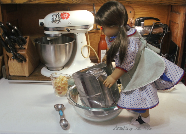 "Bridget is making pancakes- a 18"" doll adventure by Stitching with Elli"