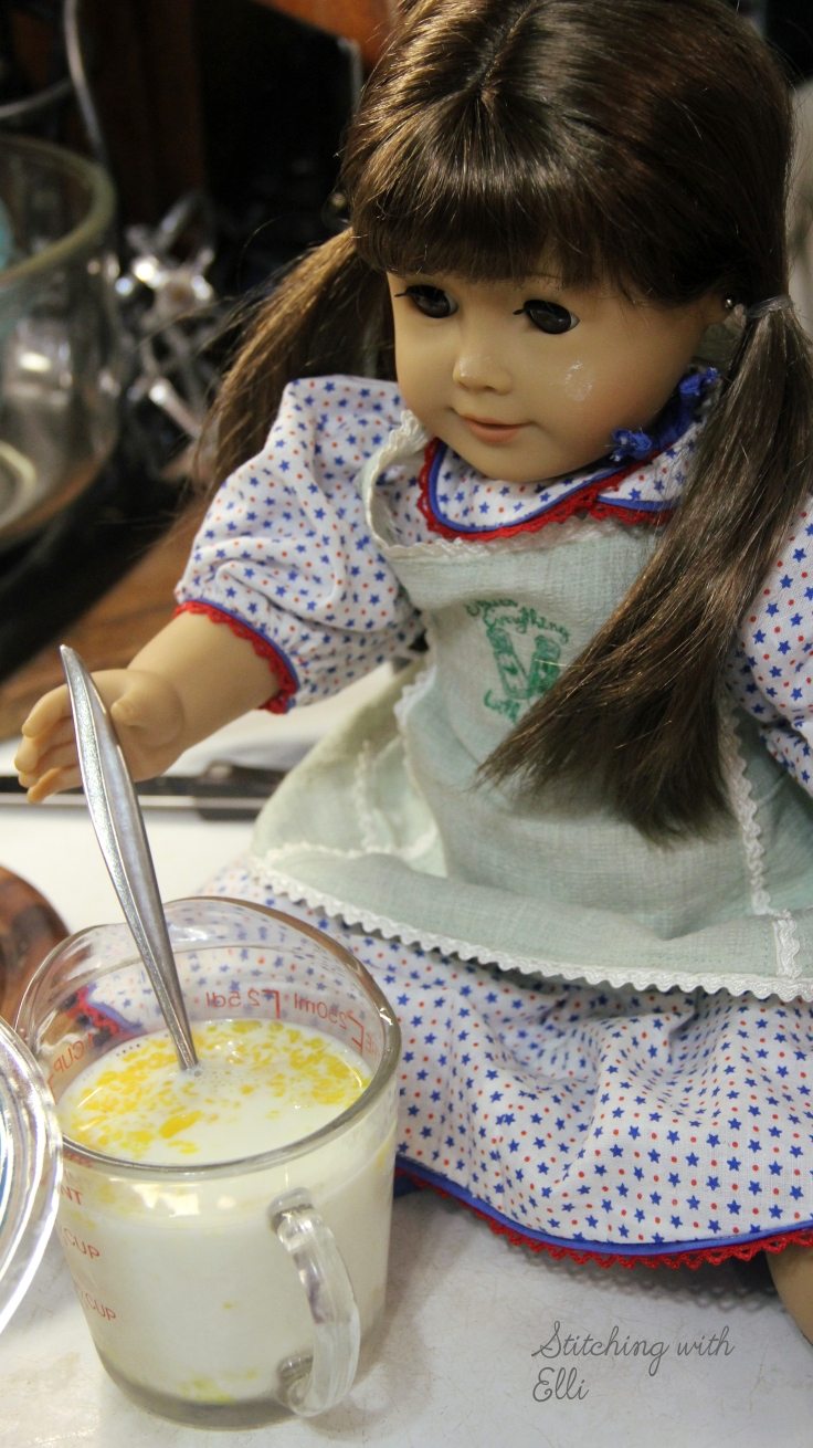 "Bridget the chef- a 18"" doll adventure by Stitching with Elli"