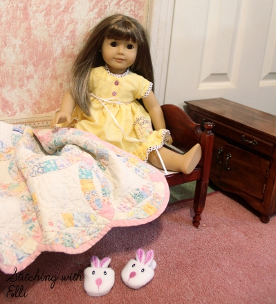"Time to get up! - a 18"" doll adventure by stitching with Elli"