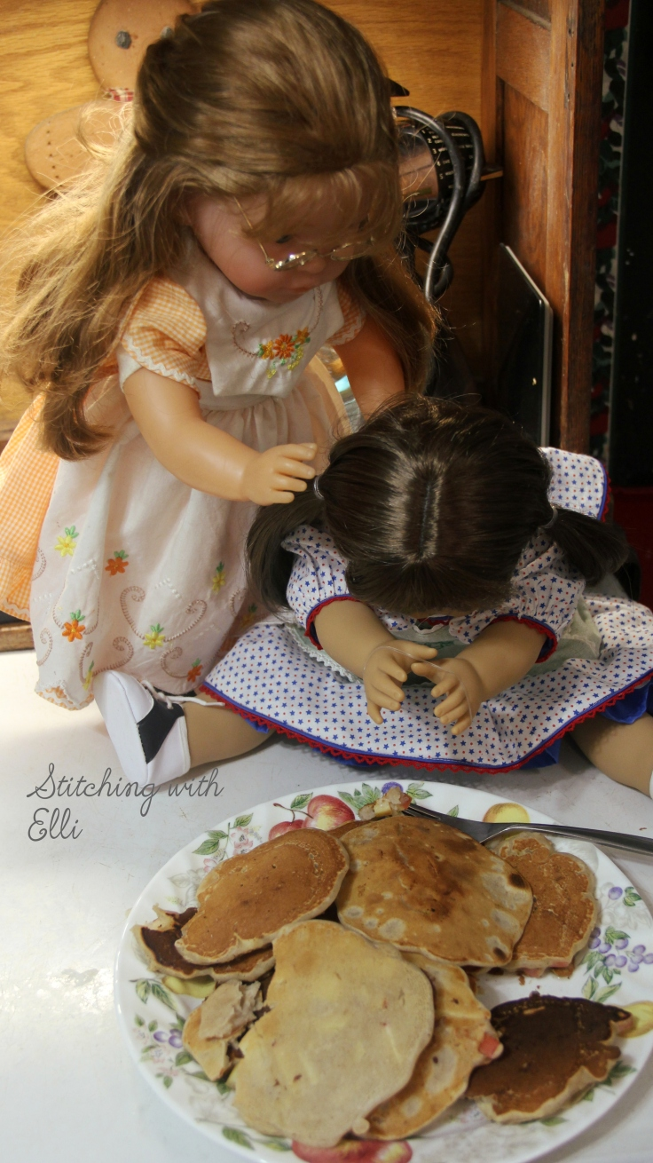 "Uh oh! the pancakes didn't turn out well!- a 18"" doll adventure by Stitching with Elli"