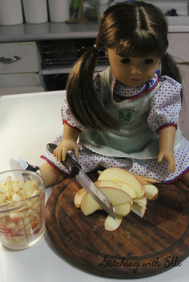 "Cooking with apples!- a 18"" doll adventure by Stitching with Elli"