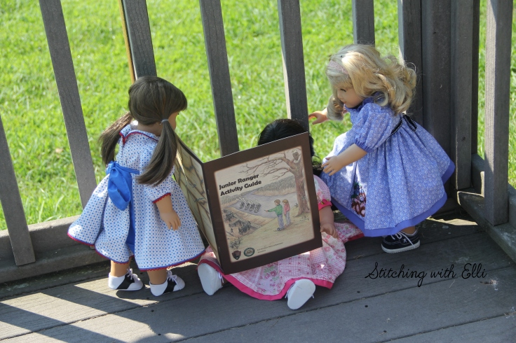 "The dolls want to be junior rangers- a 18"" doll adventure by Stitching with Elli"