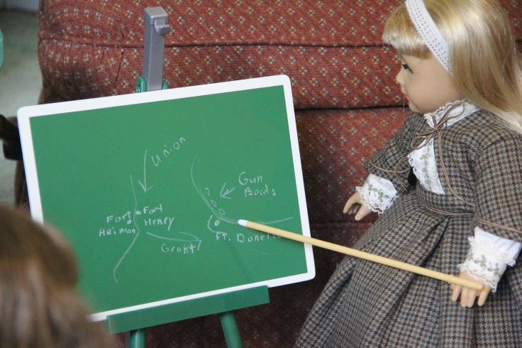 "The Dolls get a history lesson about the Civil war- a 18"" doll adventure by Stitching with Elli"
