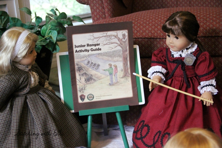 "The dolls learn about the junior ranger program- a 18"" doll adventure by Stitching with Elli"
