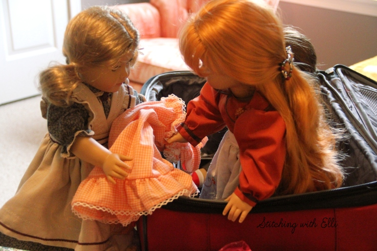 """Adventures frequently follow packing your suit case- a 18"""" doll adventure by Stitching with Elli"""
