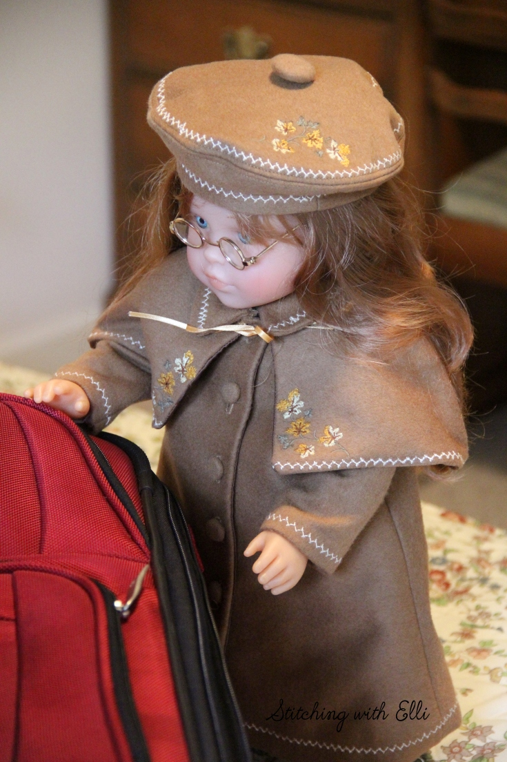 "Ellen (Corolle) is ready for winter's chill- a 18"" doll adventure by Stitching with Elli"
