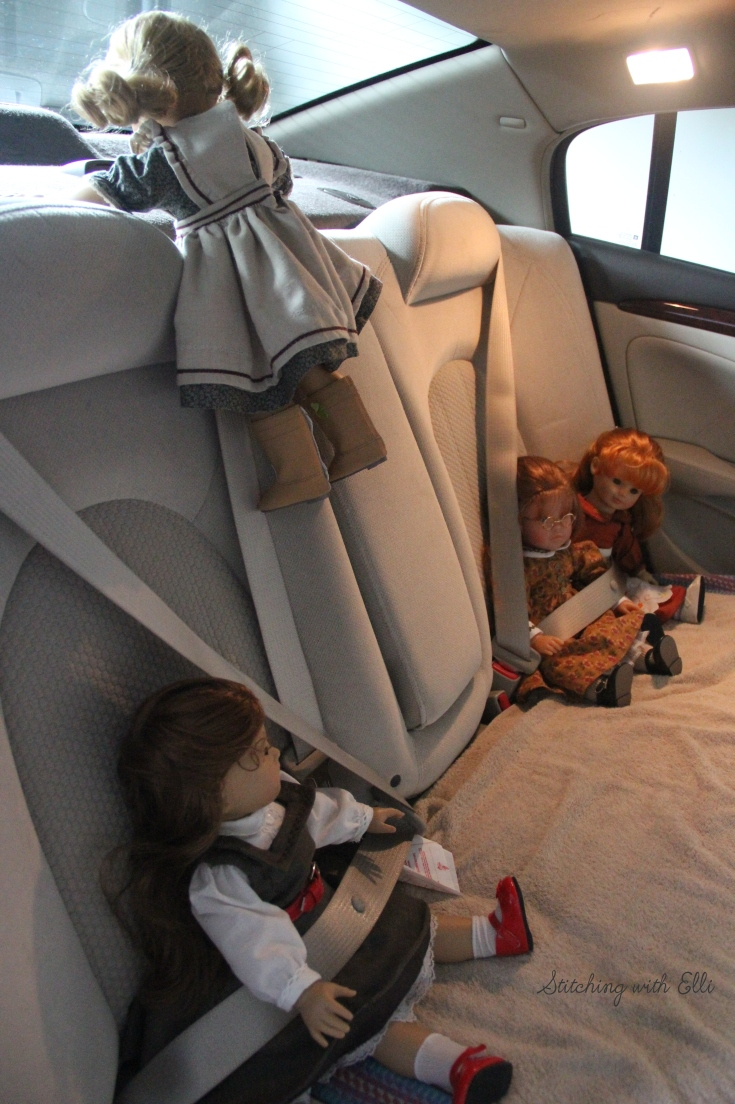 """On the Road for new adventures- a 18"""" doll adventure by Stitching with Elli"""