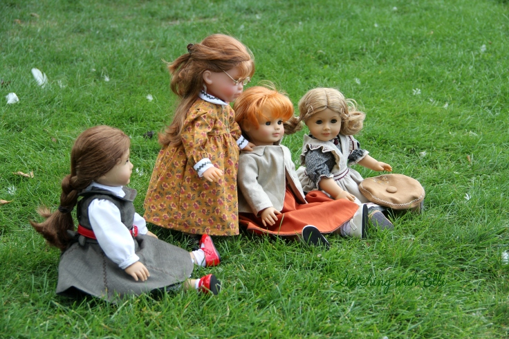 "A walk by the stream- a 18"" doll story by Stitching with Elli"