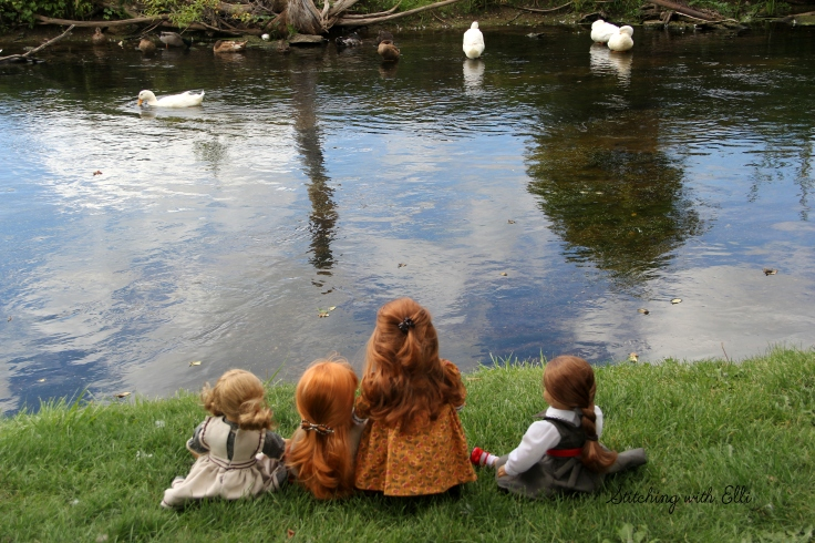 "Watch the ducks go by- a 18"" doll story by Stitching with Elli"
