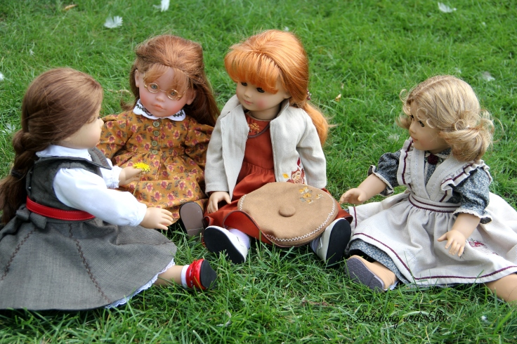 "Felicity picked a flower to show the others- a 18"" doll story by Stitching with Elli"