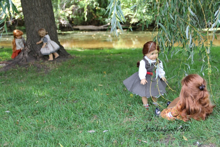 "playing hide and go seek by the stream- a 18"" doll story by Stitching with Elli"