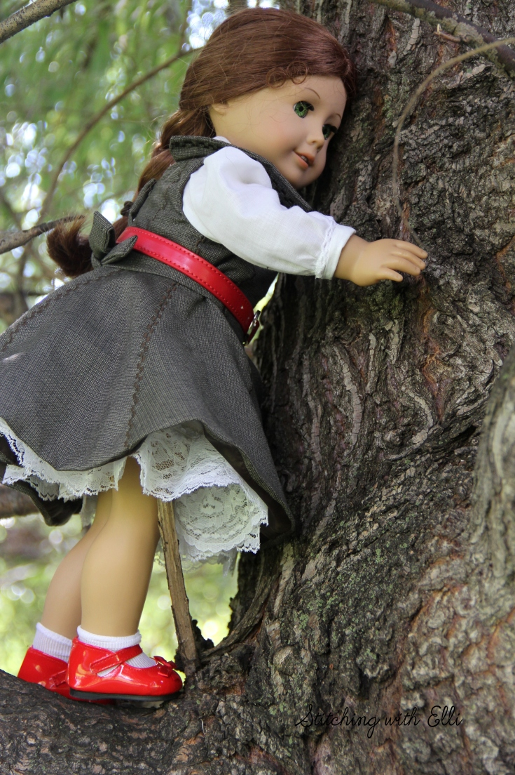 "Felicity is in the tree!- a 18"" doll story by Stitching with Elli"