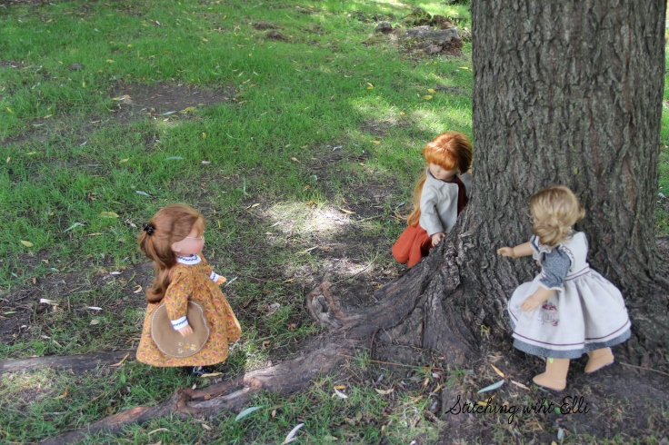 "can I play too? Ellen asks- a 18"" doll story by Stitching with Elli"