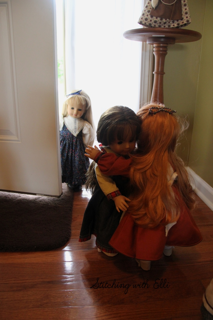 """New friends have arrived! The gotz cousins are together again.- a 18"""" doll story by Stitching with Elli"""