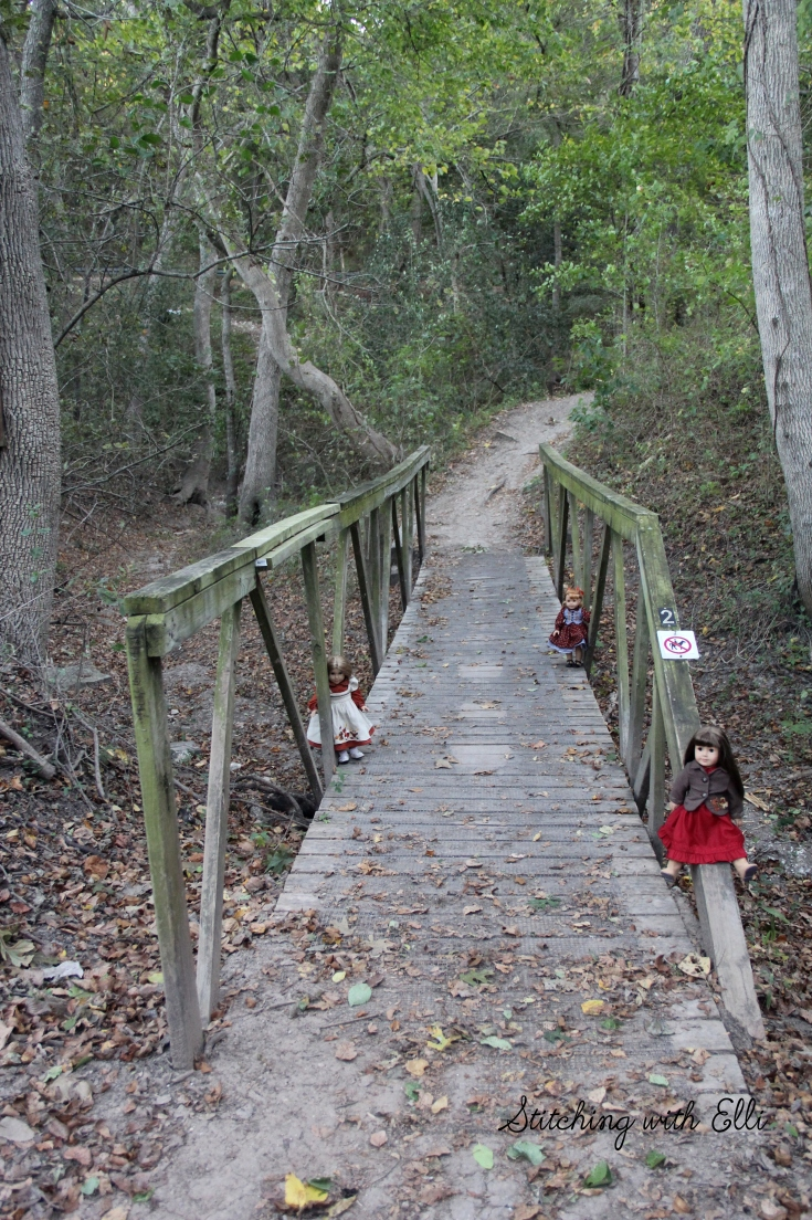 "Hiking with the american girls!- a 18"" doll photo story by Stitching with Elli"