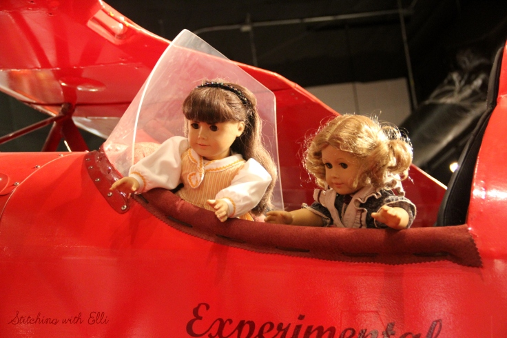 The dolls explore a museum- an American girl photostory by Stitching with Elli