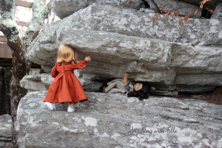 "The dolls are hiking in AL- a Doll story with 18"" american girl doll Elli"