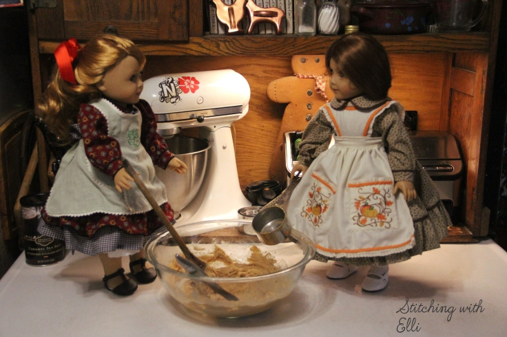 "Thanksgiving cooking is underway!!- a 18"" doll story with American girl dolls"