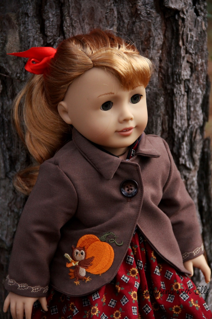 Fall Jacket for the dollies!- a giveaway on Stitching with Elli