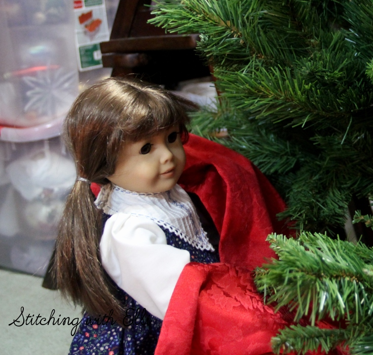 """Does this go under the tree?"" Bridget asked- an American Girl christmas photostory by Stitching with Elli"