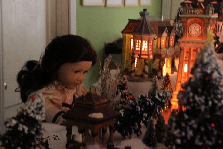 Setting up a Christmas village! - by Stitching with Elli