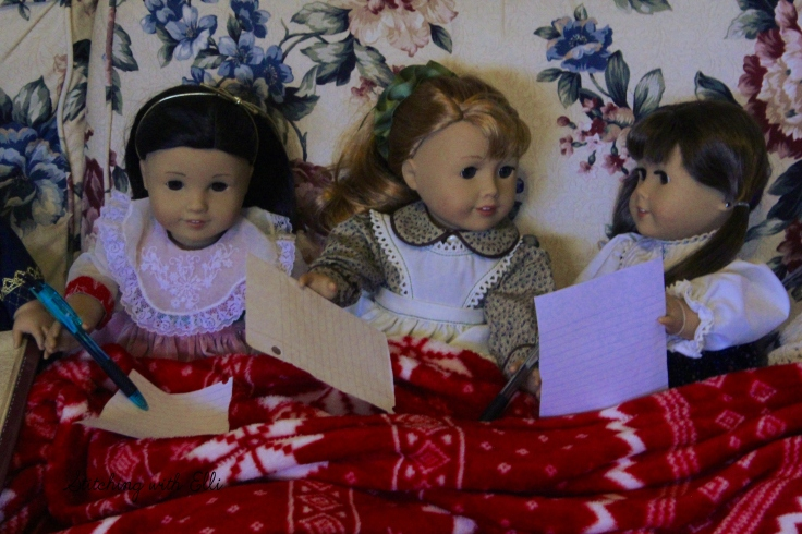 Writing Christmas lists- a Doll story by Stitching with Elli
