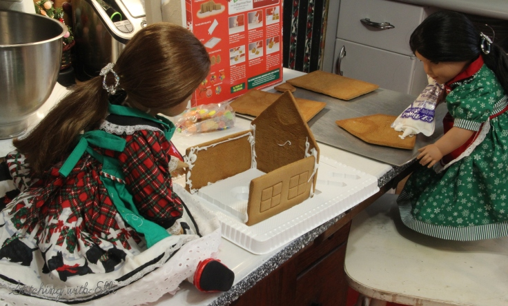 Gingerbread house construction!!- by Stitching with Elli