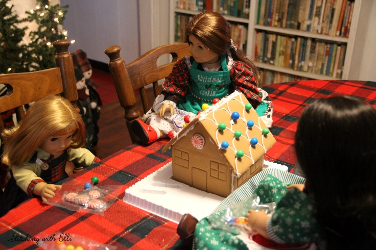 Decorating a Gingerbread house is fun!- by Stitching with Elli