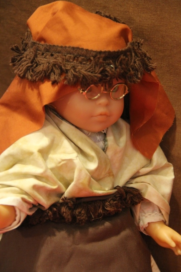 The Christmas story by the dolls- Stitching with Elli