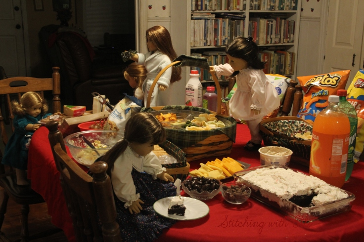 The American Girl's celebrate New years eve- by Stitching with Elli