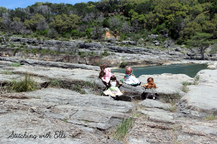 "Exploring Pedernales Falls State Park- a 18"" doll adventure with american girls by Stitching with Elli"
