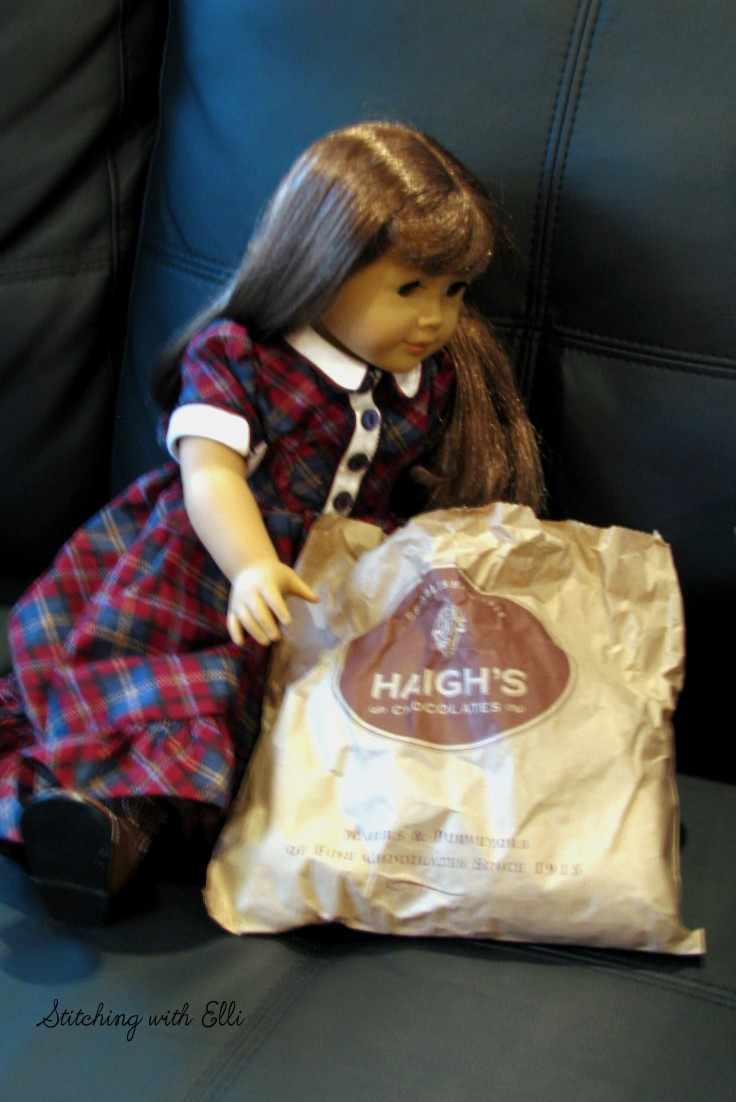 Bridget is excited to eat some Haigh's chocolate!- see the whole story on my blog