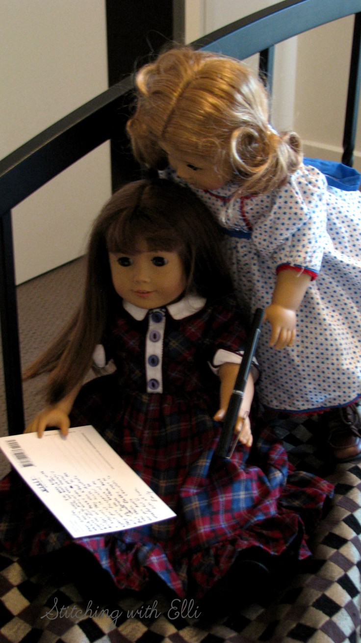 Bridget and Debbie send a post card from Australia- see my blog for more stories with American Girl dolls!