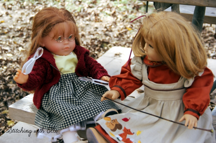 "Nellie and Ellen hike in Guadelope state park- a 18"" doll adventure www.stitchingwithelli.com"