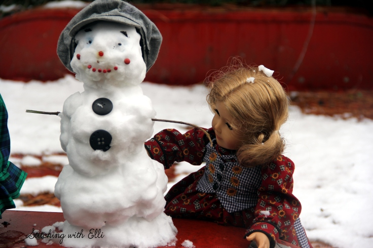 Debbie and Lanie enjoy their snow day. See the rest of their snowy adventure on www.stitchingwithelli.com