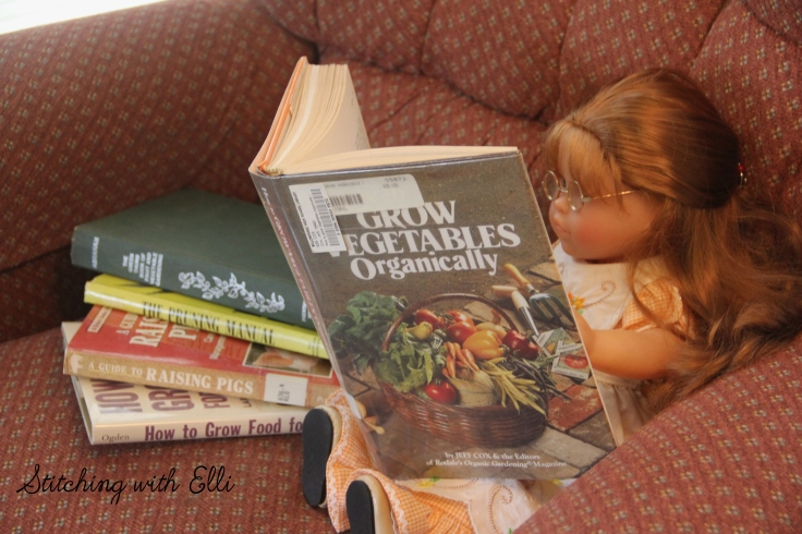 Ellen is researching how to grow a garden. See more of this story on www.stitchingwithelli.com
